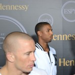 Michael B. Jordan and Georges St. Pierre
