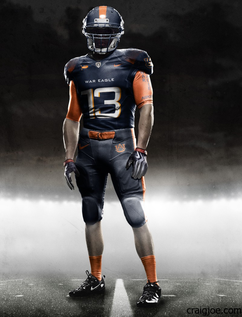 What If Auburn Had Nike Pro Combat Uniforms  c27c8cb99