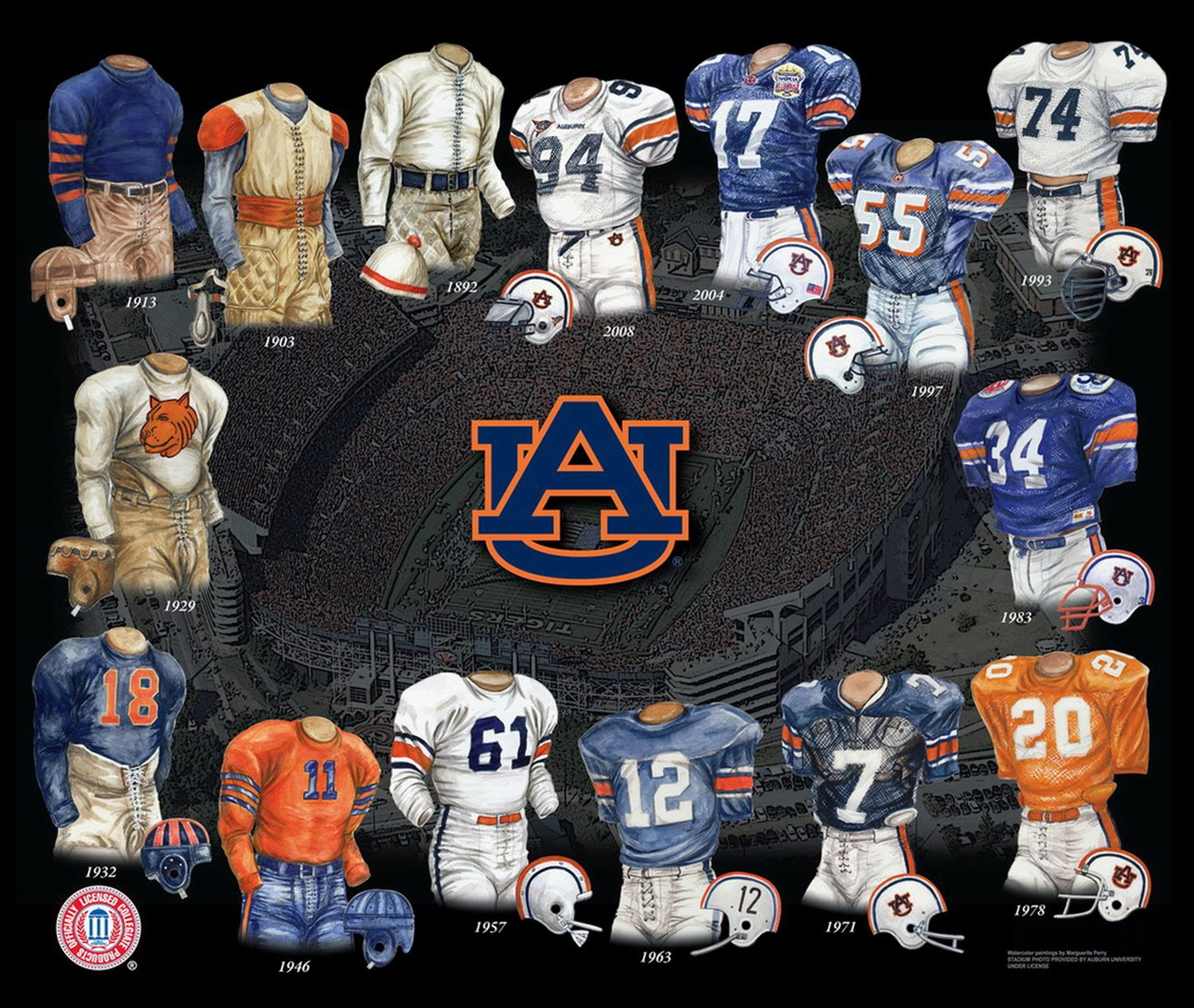 A Visual History of the Auburn Football Uniform
