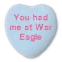 Valentine's Day Candy Hearts with an Auburn Twist
