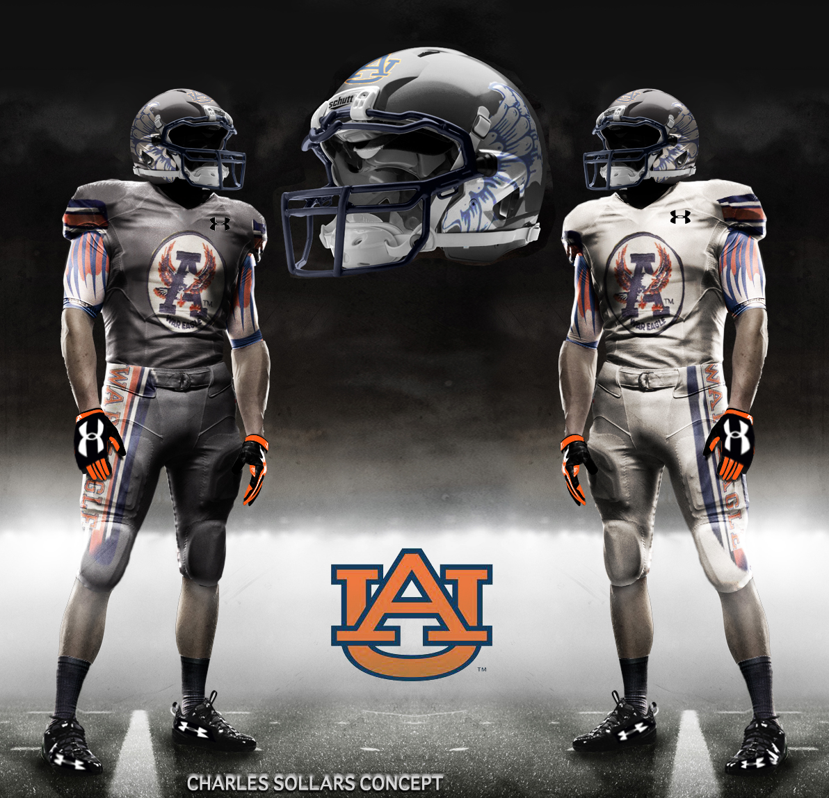 WarBlogle com - A Few Very Eccentric Auburn Uniform ConceptsUnder Armour Football Uniform Template