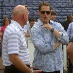 Mr. Chizik (and his recycled shirt) Went to Turner Field