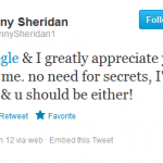 Danny Sheridan is Appreciative of my Twitter Followship