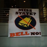 "Banner in Auburn Athletic Department Says ""BELL NO"" to Mississippi State"