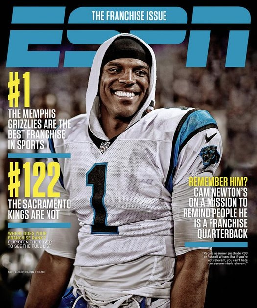 Book Cover Portadas Espn : Cam newton will be on the cover of espn magazine… again