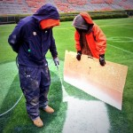 Pat Dye Field Getting Ready for Iron Bowl
