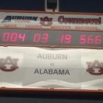 Auburn's Training Room Countdown Clock Set for the Iron Bowl