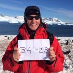 Man Shows Iron Bowl Score in Antarctica