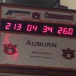 Auburn's Training Room Countdown Clock Already Set for Arkansas