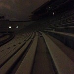 Inside Snowy Jordan-Hare Stadium At Night