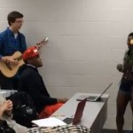 Cam Newton Serenaded in Class... Again