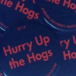 Arkansas Gameday Button: Hurry Up the Hogs