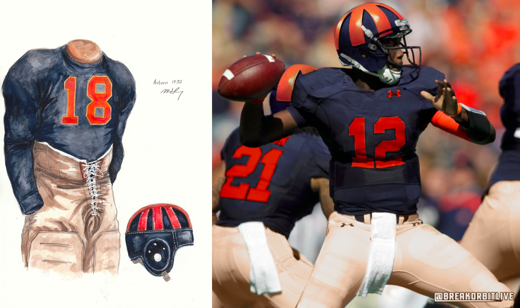 601e59ca5ee Many Auburn uniform traditionalists think that Auburn has worn orange  jerseys on only three occasions