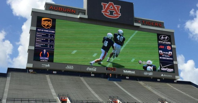 This is What Auburn's Massive New Video Board Will Look Like on Gamedays