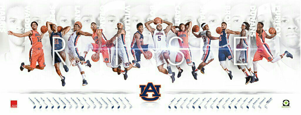The 2015 Auburn Basketball Schedule Poster