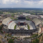 Drone Footage of Kenny Chesney's Stage Setup in Jordan-Hare Stadium