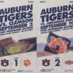 The 2016 Auburn Football Season Tickets