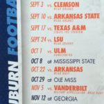 Auburn's 2016 Football (and clothing) Schedule