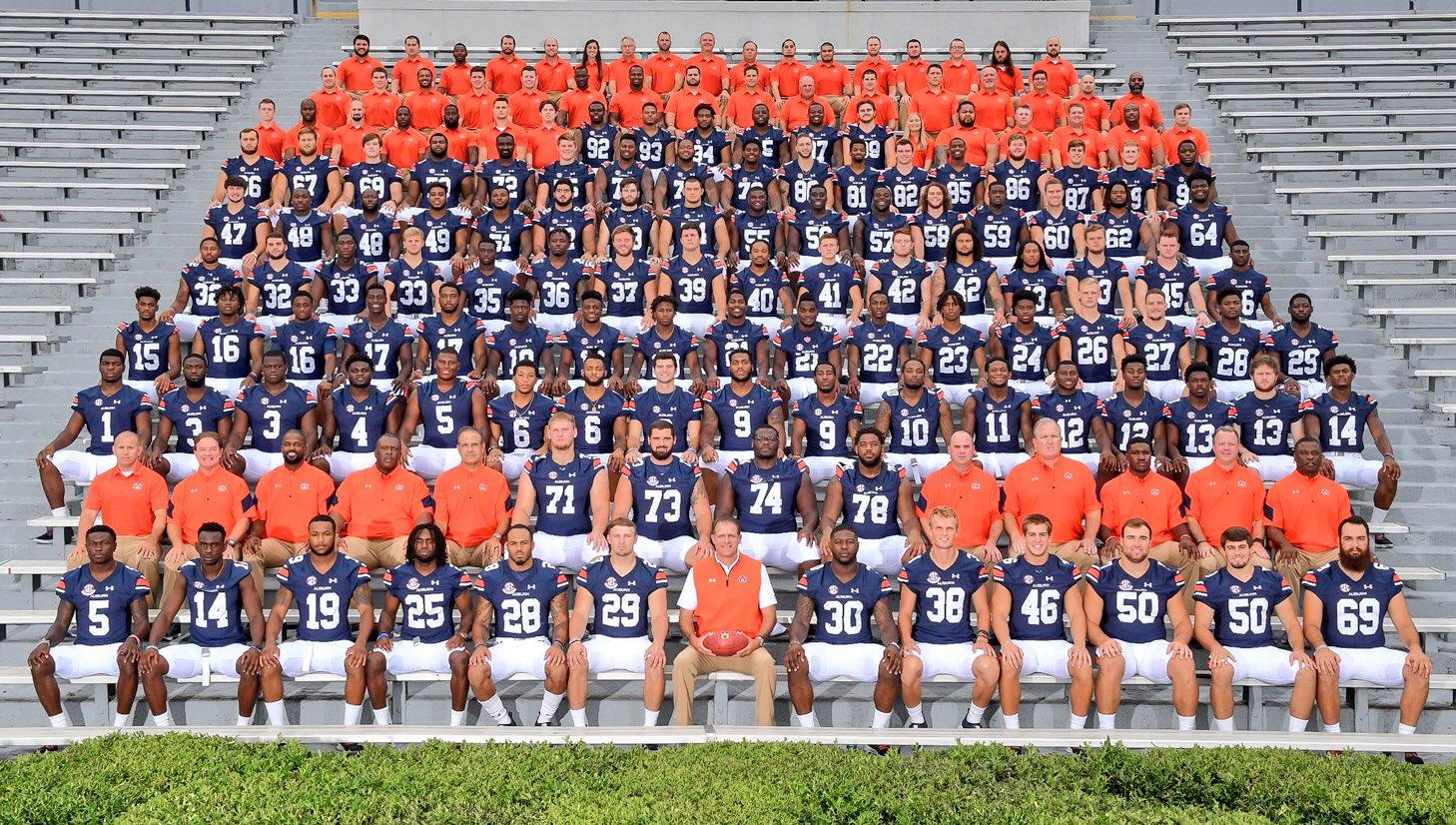 The 2017 Auburn Football Team Picture
