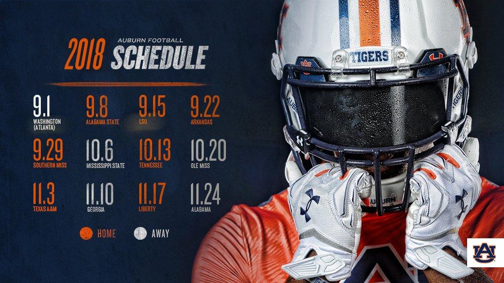 Auburn Football Schedule 2019 Ranking Auburn's 2018 Football Schedule