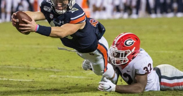 Highlights of Auburn's 21-14 Loss to Georgia